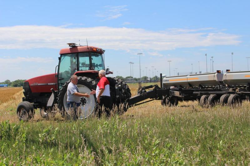 Scott Gonnerman and Dave Eigenberg, cover crop seeding